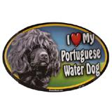 Dog Breed Image Magnet Oval Portuguese Water Dog