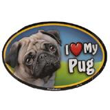 Dog Breed Image Magnet Oval Pug