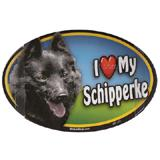 Dog Breed Image Magnet Oval Schipperke