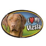 Dog Breed Image Magnet Oval Vizsla