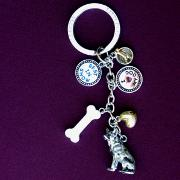 Key Chain Australian Cattle Dog with 5 Charms