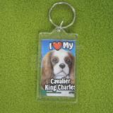 Plastic Keyring Cavalier King Charles