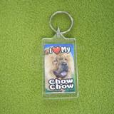 Plastic Keyring Chow Chow