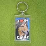 Plastic Keyring Collie