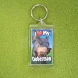 Plastic Keyring Doberman