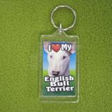Plastic Keyring English Bull Terrier