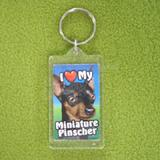 Plastic Keyring Minature Pinscher
