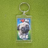 Plastic Keyring Pug
