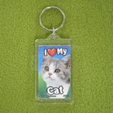 Plastic Keyring Cat Mix Breed