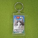 Plastic Keyring Kitten Mix Breed