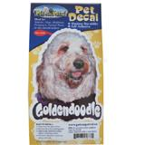 6-inch Vinyl Dog Decal Goldendoodle Picture