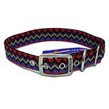Hamilton Nylon Dog Collar Black Weave 1 x 22-inch