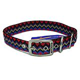 Hamilton Nylon Dog Collar Black Weave 1 x 26-inch