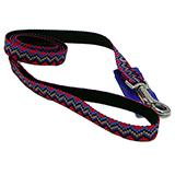 Hamilton Nylon Black Weave Dog Leash 5/8-inch x 6-ft