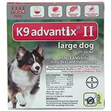 Bayer Advantix II Dog 21-55 lb 4 pack