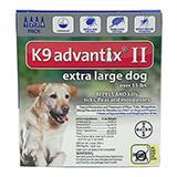 Bayer Advantix II Dog 55+ lb 4 pack