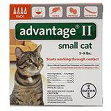 Bayer Advantage II Cat 5-9 pound 4-pack  Flea Control