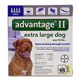 Bayer Advantage II Dog Over 55-Lb. 4 pack