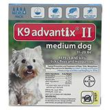 Bayer Advantix II Dog 11-20 lb 4 pack