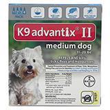 Bayer Advantix II Dog 11-20 lb 4 pack