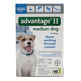 Bayer Advantage II Dog 11-20 lb 6pk