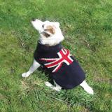 Handmade Dog Sweater Union Jack Large