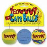 Yeowww My Cats Balls Catnip Cat Toy 3pk
