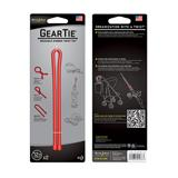 Gear Tie 12 inch Red Reusable Rubber Twist Tie 2pk
