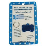 Reflex Bone Reflecting Dog Tag Blue