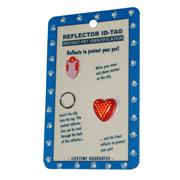 Reflex Small Heart Reflecting Dog Tag Red