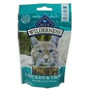 Blue Wilderness Chicken and Trout Grain-Free Cat Treats 2oz.