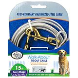 Heavy Weight Tie-Out Cable for Dogs 15-ft.