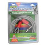 Super Heavy Weight Tie-Out Cable for Large Dogs 15-ft.