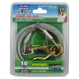 Heavy Weight Tie-Out Cable for Dogs 10-ft.