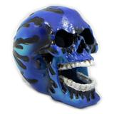 Flaming Skull Small Aquarium Ornament