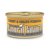 Natural Balance Turkey and Giblet Canned Cat Food 3oz Each