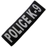 Removable Velcro Patch Police K-9 Large / XLarge