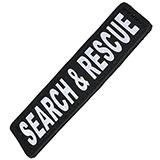 Removable Velcro Patch Search and Rescue Small / Medium