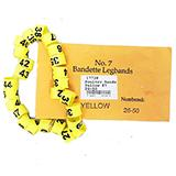 Poultry Numbered Leg Bands Yellow Size 7 Numbered 26-50