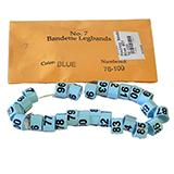 Poultry Numbered Leg Bands Blue Size 7 Numbered 76-100