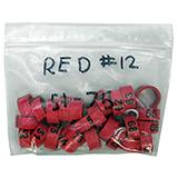 Poultry Numbered Leg Bands Red Size 12 Numbered 51-75