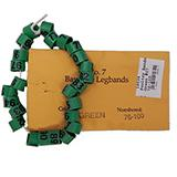 Poultry Numbered Leg Bands Green Size 7 Numbered 76-100