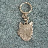 Pewter Key Chain I Love My Norwegian Elkhound