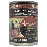 Dave's Naturally Healthy Chicken and Rice Canned 13oz each