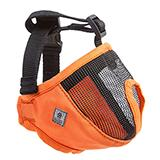 Dog Muzzle Short Snout Small Orange