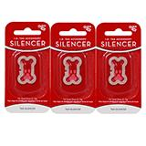 Dog Tag Silencer Small Bone Shape 3 pack