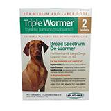 Durvet Triple Wormer for Medium and Large Dogs 12 Tablet