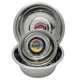 Stainless Steel Dog Food/Water Bowl 1/2/3 Quart Multi Pack