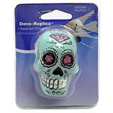 Sugar Skull Aquarium Ornament Blue