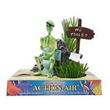 Penn Plax Action Skeleton No Toilet Aquarium Air Ornament